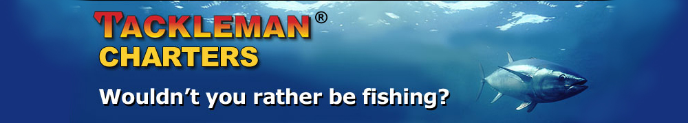Tackleman Fishing Charters top banner